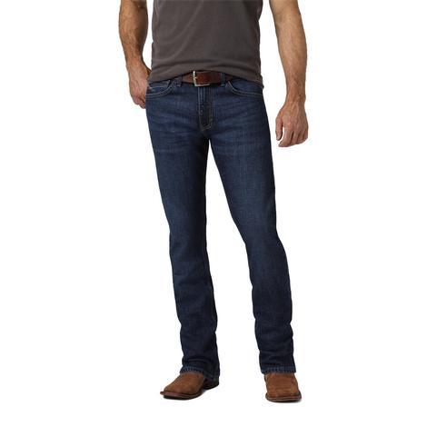 Wrangler 42 Vintage Dark Wash Bootcut Men's Jeans
