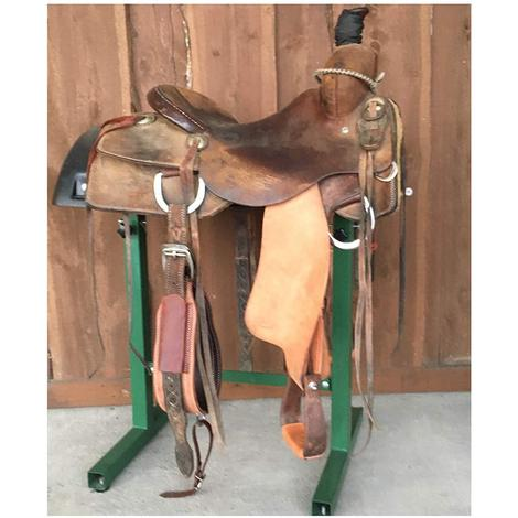 "STT Full Roughout 15.5"" Used Ranch Cutter Saddle"