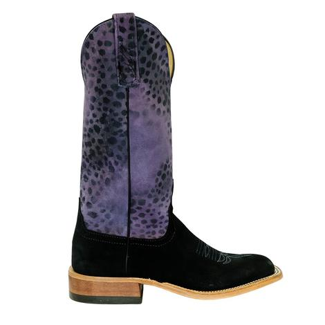 Anderson Bean Black Granola Purple Leopard Women's Boots