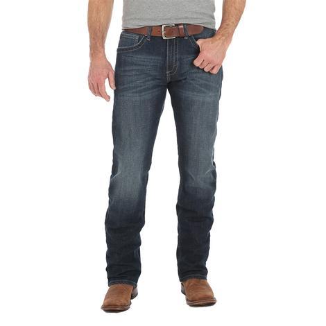 Wrangler Mens Slim Straight Dark Wash Jeans