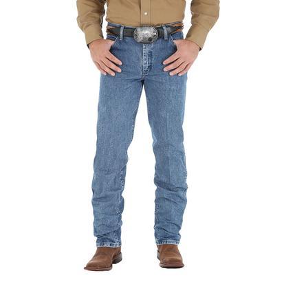 Wrangler Mens Premium Performance Cowboy Cut Regular Fit Jeans - Dark Stone (Extended Length)