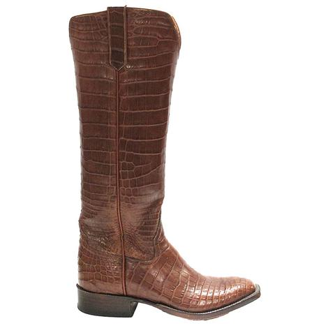 Rios Of Mercedes Womens Tan Croc Belly Western Boots