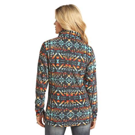 Powder River Multi Color Aztec Fleece Women's Pullover