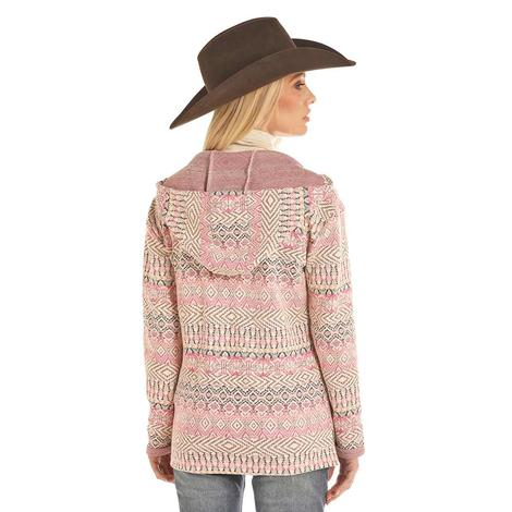 Powder River Pink Texured Women's Pullover Hoodie
