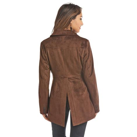 Powder River Faux Suede Longline Women's Blazer