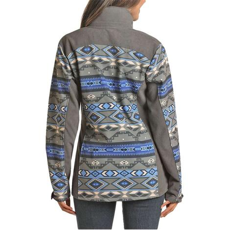 Powder River Aztec Print Womens Softshell Jacket