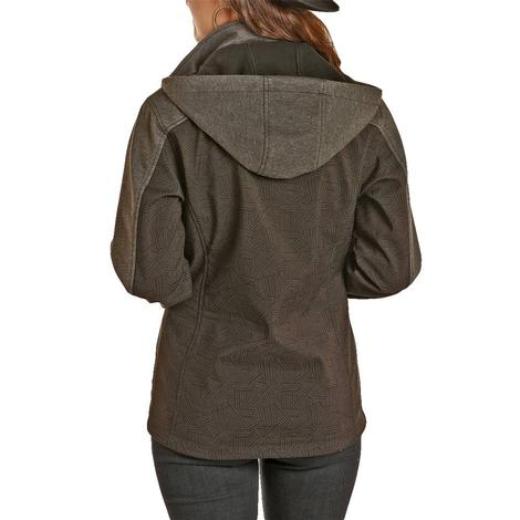 Powder River Womens Black Reflective Soft Shell Jacket