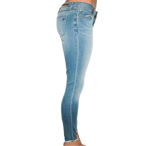 Articles Of Society Womens Sarah Off Hem Light Jeans