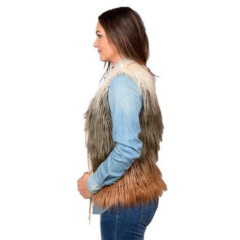 1a6d5b155398c ... Panhandle Slim Womens Cream Brown Rust Faux Fur Vest