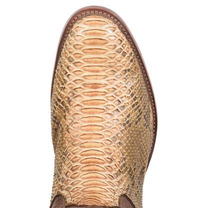 Rios of Mercedes Mens Copper Python Boot