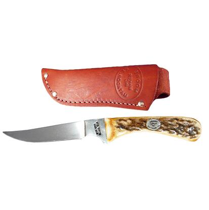 Stag Scale Fixed Blade Knife 6 3/4 Inches