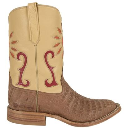 Rios of Mercedes Mens Tan Caiman Belly Melon Make Up Boots