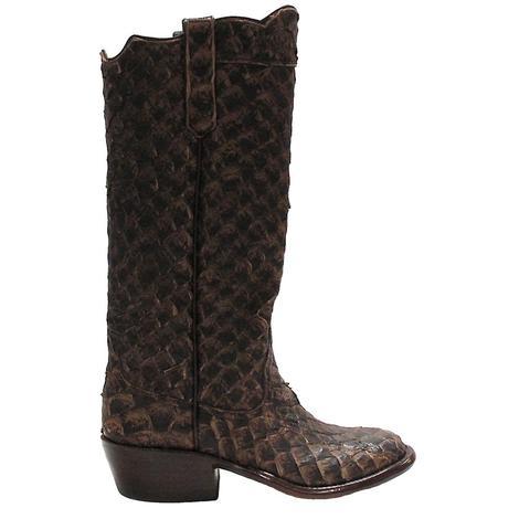 Rios Of Mercedes Womens Pirarucu Brown Western Boots