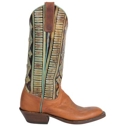 Anderson Bean Womens Turquoise Goat Boots