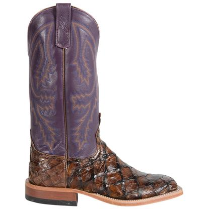 Anderson Bean Chocolate and Purple Big Bass Boots
