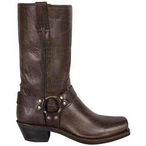 Frye Womens Smoke Leather Harness Motorcycle Boots