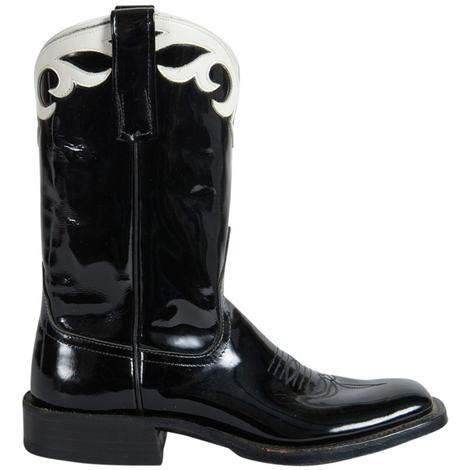 Anderson Bean Womens Black Patent Makeup Western Boots