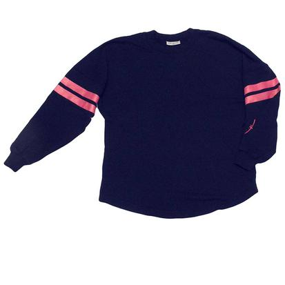 Life's Ride Womens Jersey Tee - Navy Pink