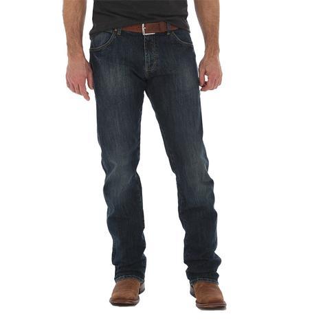 Wrangler Slim Straight Leg Dark Wash Men's Jeans