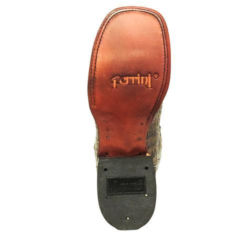 Ferrini Womens Sport Rust Caiman Print Boots