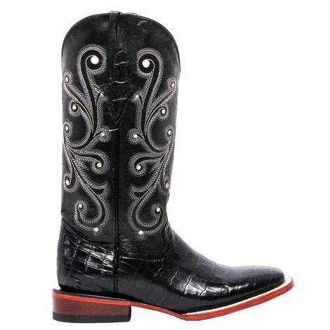 Ferrini Black Gator Belly Women's Boots