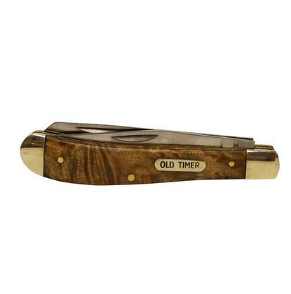 Old Timer Gunstock Trapper Folding Pocket Knife