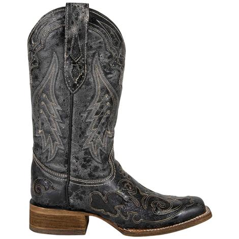 Corral Womens Black Python Western Boots