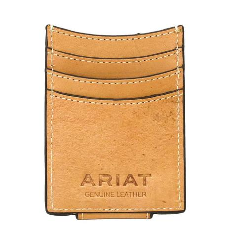 Ariat Floral Basketweave Tooled Money Clip