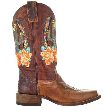 Corral Sand Cactus Inlay Floral Women's Boots