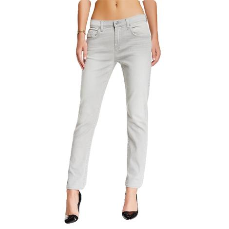 7 For All Mankind Relax Skinny The Girlfriend Grey Jeans