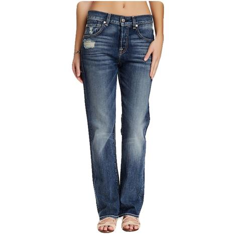7 For All Mankind 1984 High Waist Boyfriend Medium Wash Jean