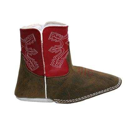 Anderson Bean Red Baby Beans Square Toe Boots