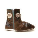 Macie Bean Brown Floral Baby Bean Boots