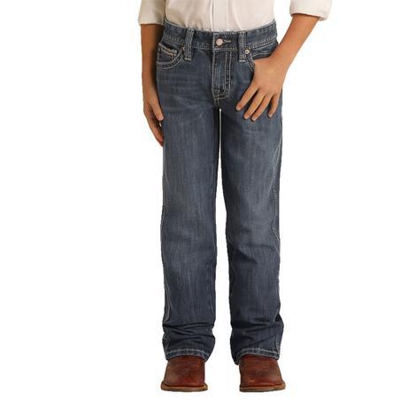 Rock & Roll Cowboy Medium Vintage Bootcut Boy's Jeans