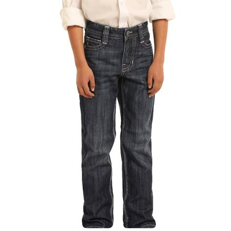 Rock and Roll Cowboy Dark Vintage Bootcut Boy's Jeans