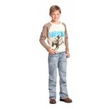 "Rock & Roll Cowboy Boys BB Light Wash Abstract ""A"