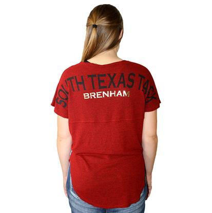STT Womens Red Cutoff Spirit Jersey