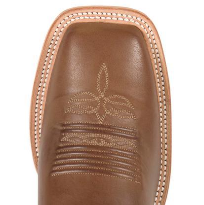 Justin Mens Bent Rail Chocolate Burnished Calf Square Toe Boots