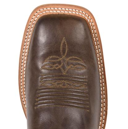 Justin Mens Bent Rail Chocolate Burnished America Boots