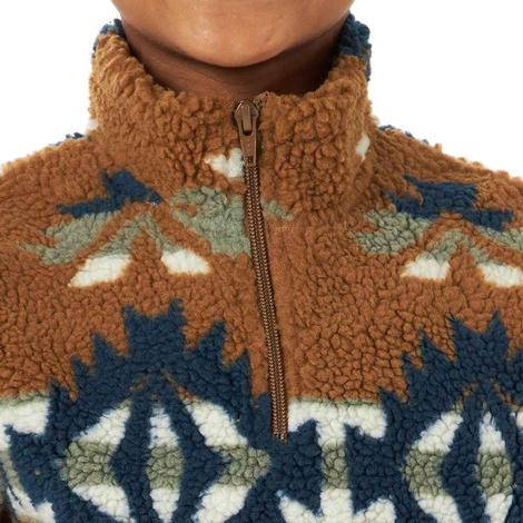 Wrangler Brown Aztec Sherpa Boy's Pullover