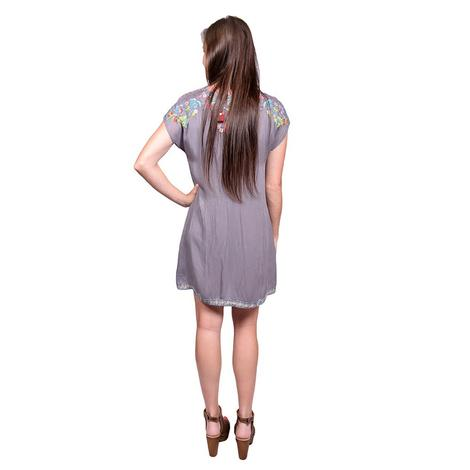 Johnny Was Womens Pari Tunic in Blue Steel