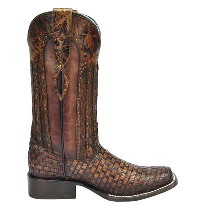 Corral Womens Exotic Lizard Woven Cowgirl Boot