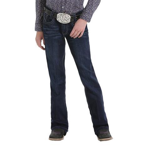 Cruel Girl Violet Slim Fit Dark Wash Girl's Trouser Jeans - Sizes 7-16