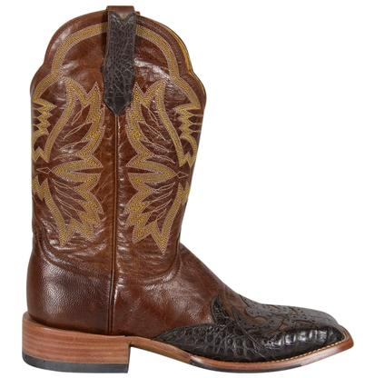 Cinch Womens Moody Brown & Gold Winged Caiman Cowgirl Boots
