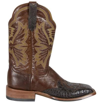 Cinch Mens Burnished Chestnut Goat Cowboy Boots