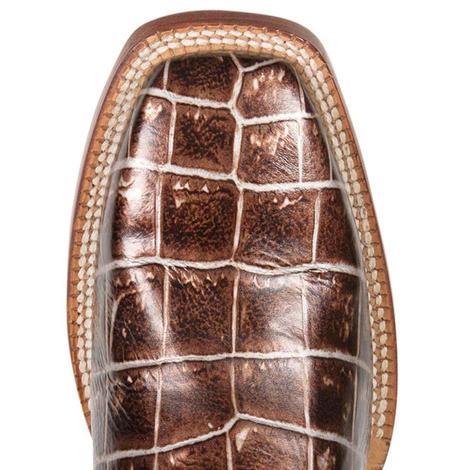 Cinch Womens Cowboy Square Sizzle Crocodile Western Boots