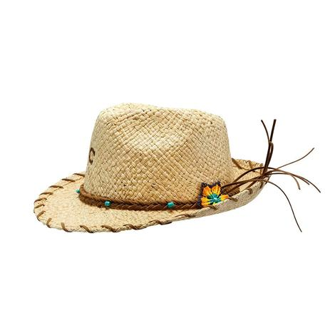 Charlie 1 Horse Sunkissed Fedora 2.5 Brim Natural Straw Hat