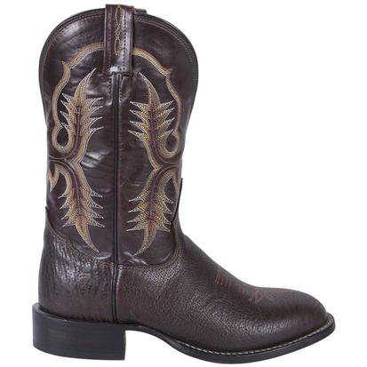Tony Lama Mens Chocolate Shrunken Shoulder Round Toe Boots