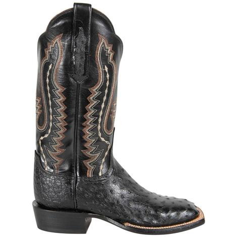 Lucchese Womens Black Full Quill Western Boots