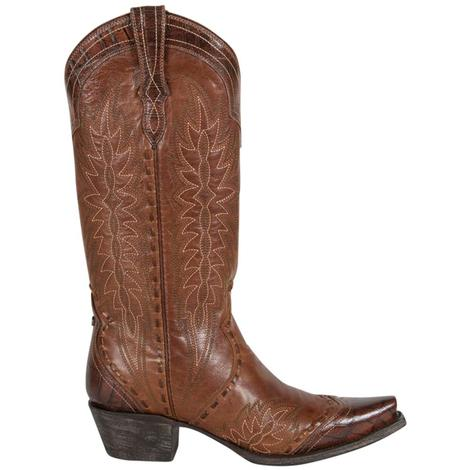 Double D Womens Ramirez Brown Leather Western Boots